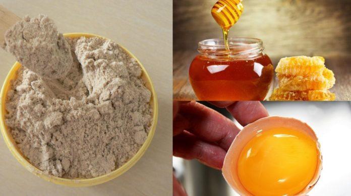 Bột cám gạo trứng gà và mật ong