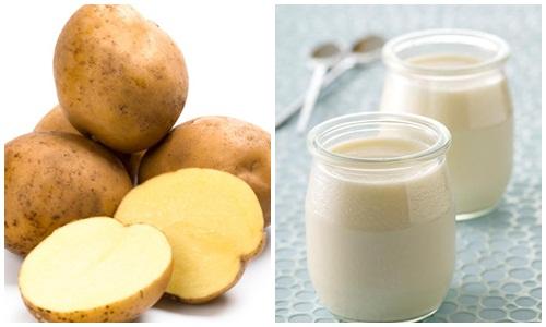 Trị mụn bằng mặt nạ khoai tây và sữa tươi