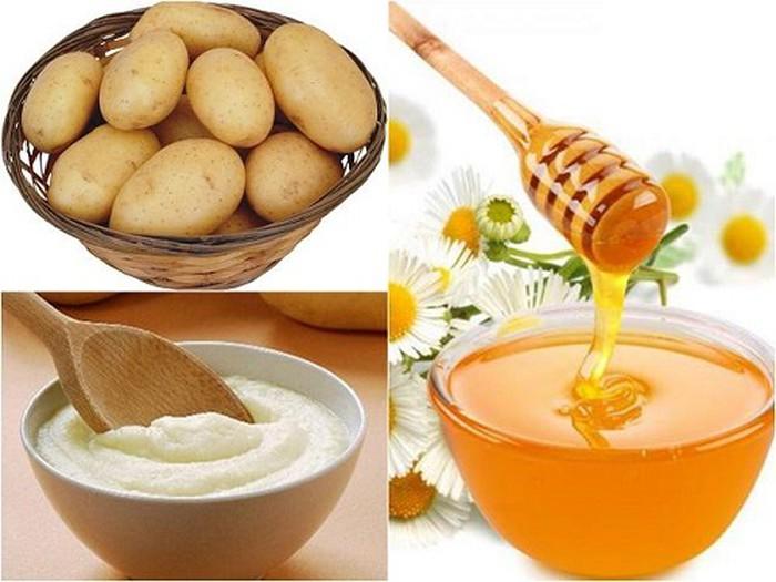 Mặt nạ khoai tây, sữa tươi và mật ong