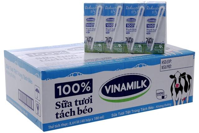 Phân biệt sữa tươi có đường và không đường