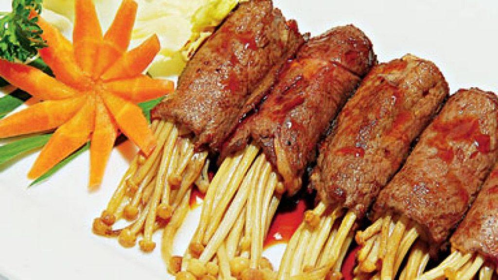 Thịt cuộn kim châm