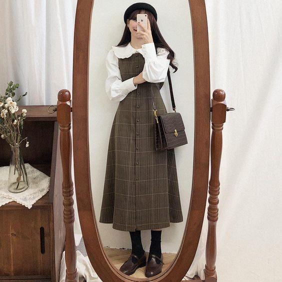 Bật mí 18+ kiểu váy xinh phong cách vintage 12