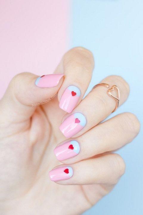 Bật mí 20 kiểu nail hình trái tim siêu xinh 10