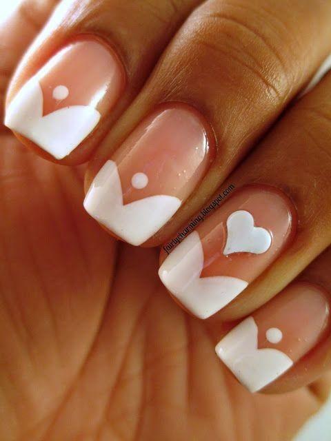 Bật mí 20 kiểu nail hình trái tim siêu xinh 12