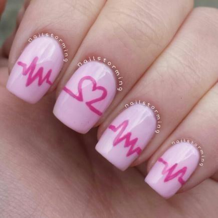 Bật mí 20 kiểu nail hình trái tim siêu xinh 15