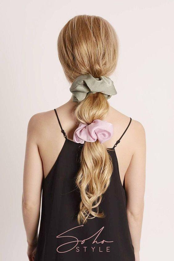 Đốn tim với 24+ kiểu tóc với scrunchies 20