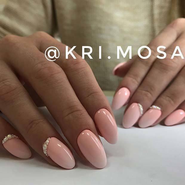 Kiểu nail hồng đơn giản