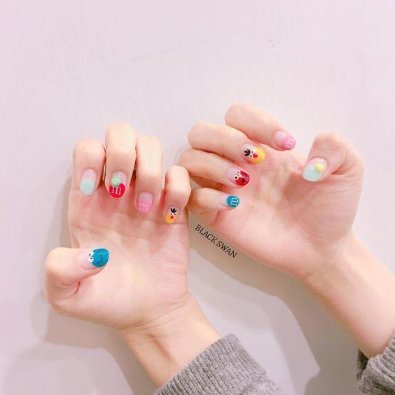 Kiểu nail sơn gel 10