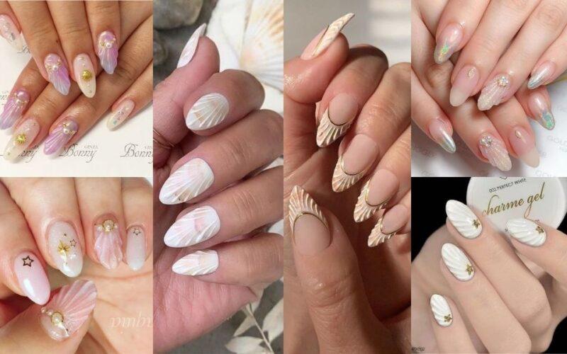 Làm điệu với 20+ Kiểu nail với vỏ sò cho nàng thêm xinh