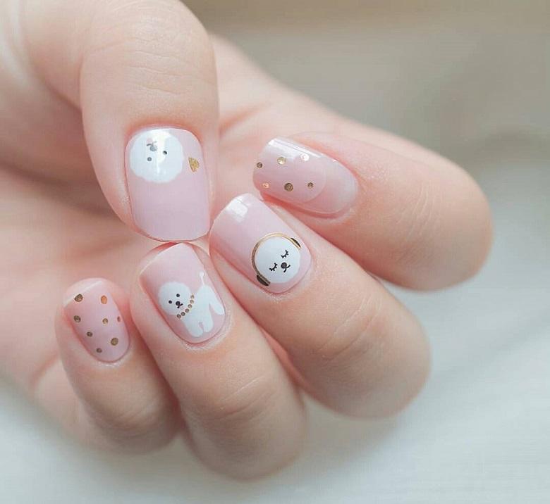 Nail phong cách Hàn Quốc 9