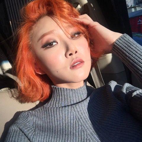 Nhuộm tóc màu cam