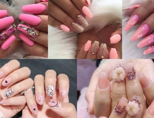 Tan chảy với 20 kiểu nail hồng dẫn đầu xu hướng
