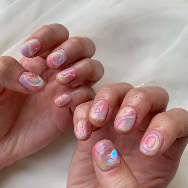 Tan chảy với 22+ kiểu nail sóng cực xinh 15