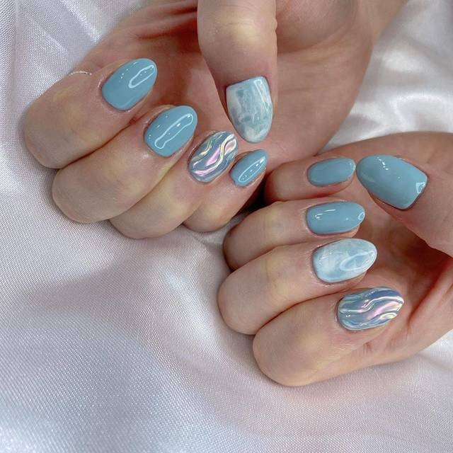 Tan chảy với 22+ kiểu nail sóng cực xinh 16