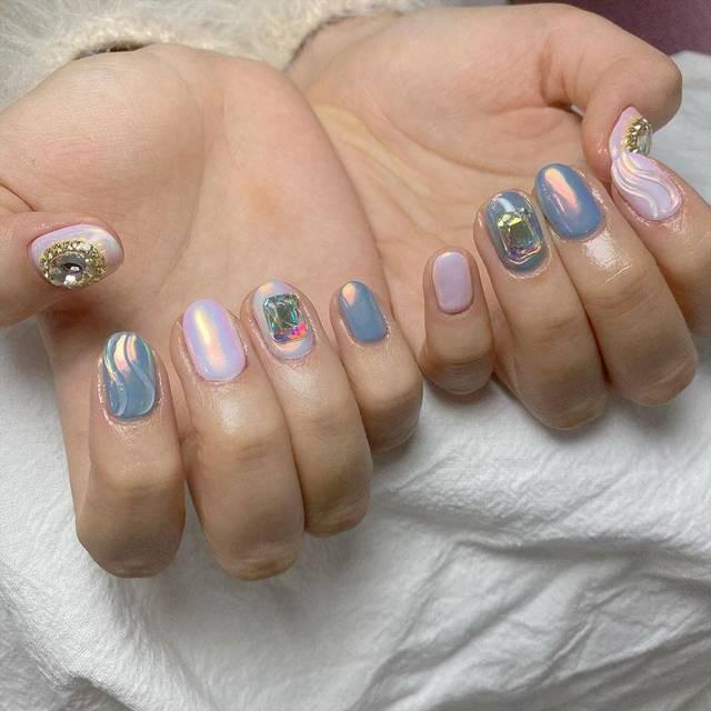 Tan chảy với 22+ kiểu nail sóng cực xinh 5