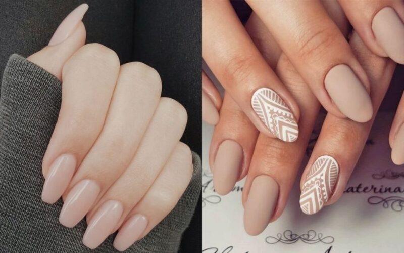add nail màu nude