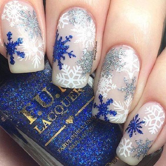 các kiểu móng tay hoa tuyết 15