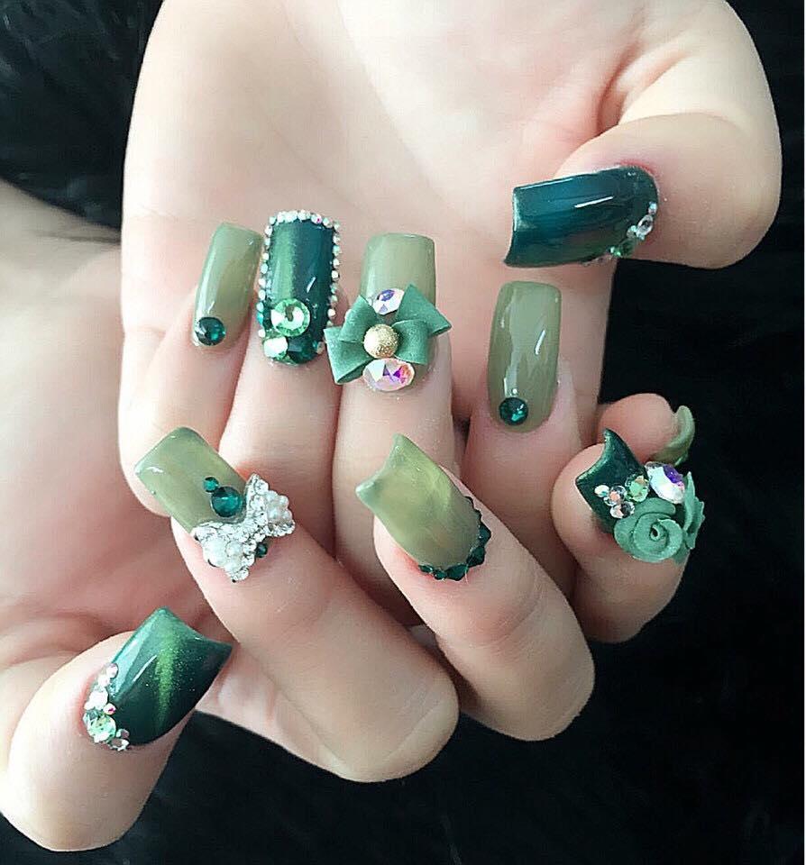 Mẫu nail phong cách nhẹ nhàng 10