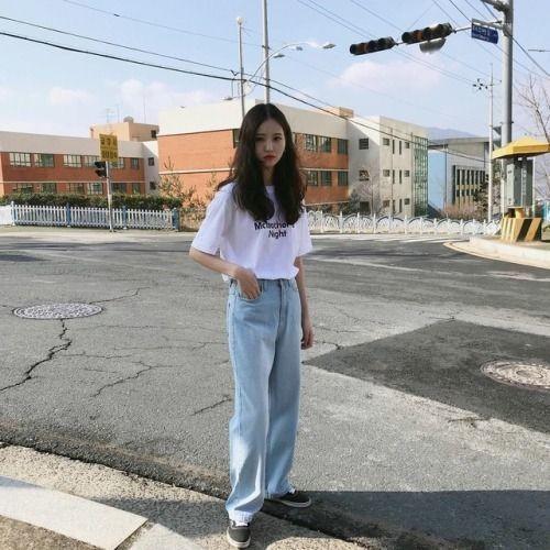 Phối đồ với quần jeans ống rộng 8