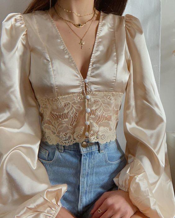 Trang phục satin bóng 2