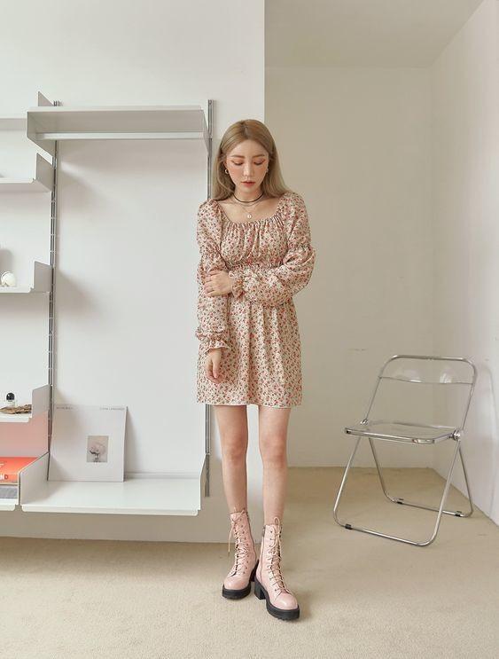 Váy màu be 23
