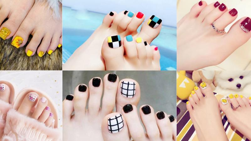20+kiểu nail móng chân màu sắc HOT siêu đẹp 2021
