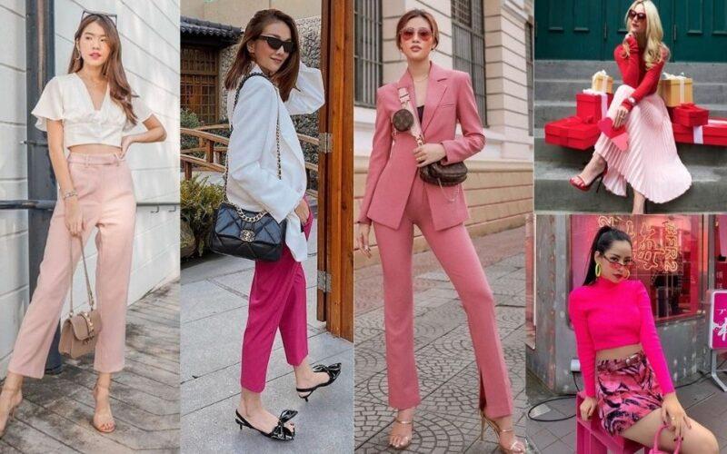 add phối đồ trang phục màu hồng