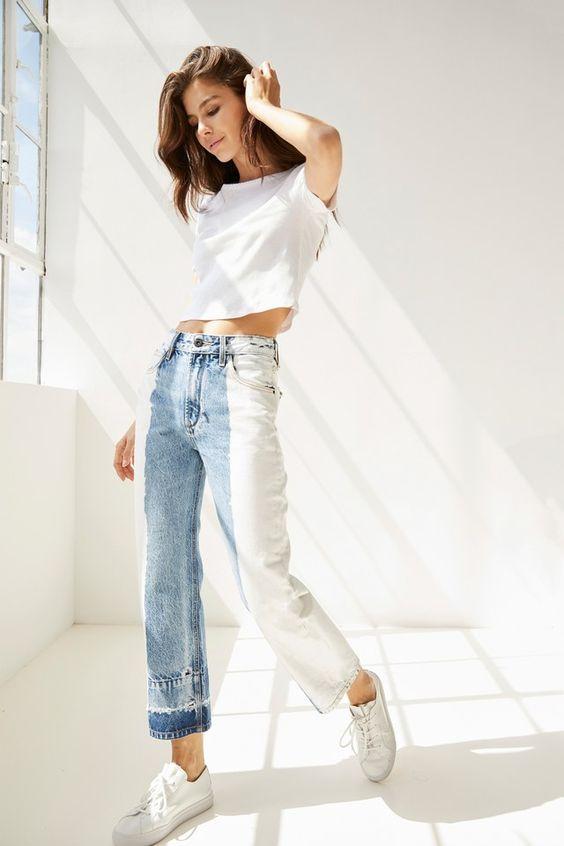 jeans hai màu 10
