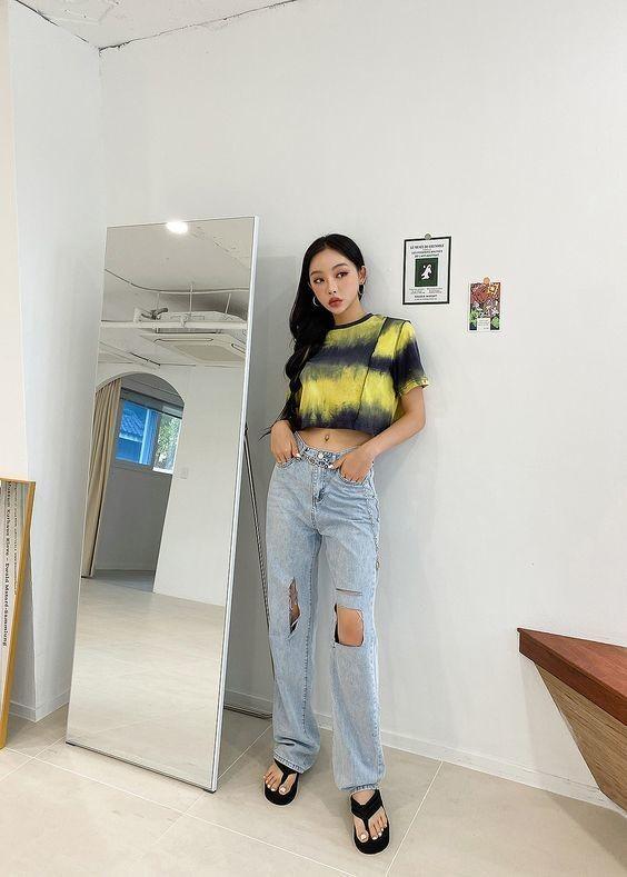 Kiểu trang phục màu tie dye pastel 1