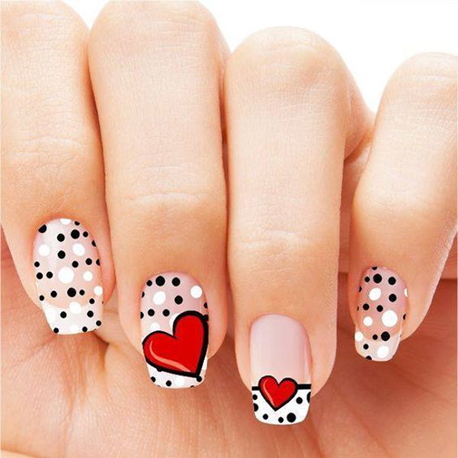 Mẫu nail chấm bi đẹp  và dễ thương 16