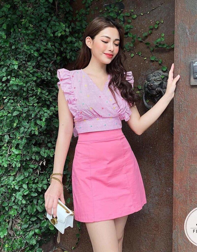 phối đồ với trang phục màu hồng_3