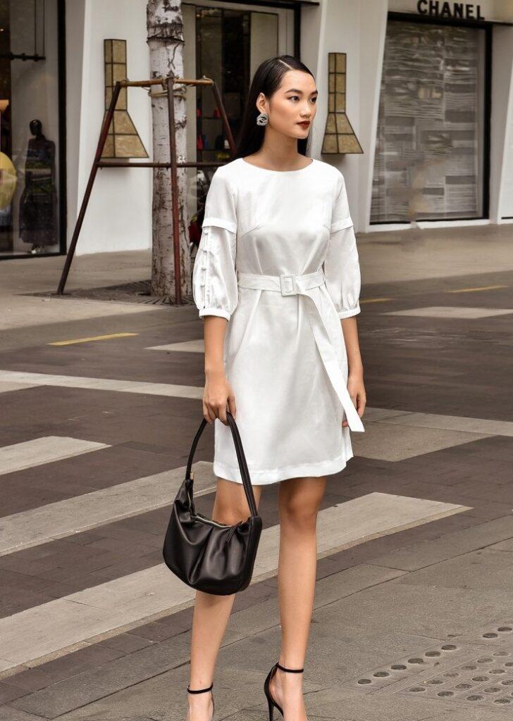 phối đồ với trang phục màu trắng_18
