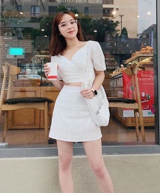 phối đồ với trang phục màu trắng_7