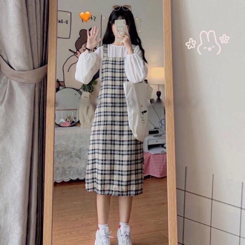 Váy yêm sọc caro 2