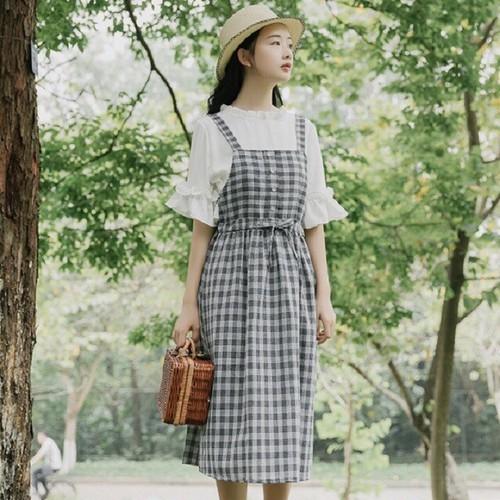 Váy yêm sọc caro 7