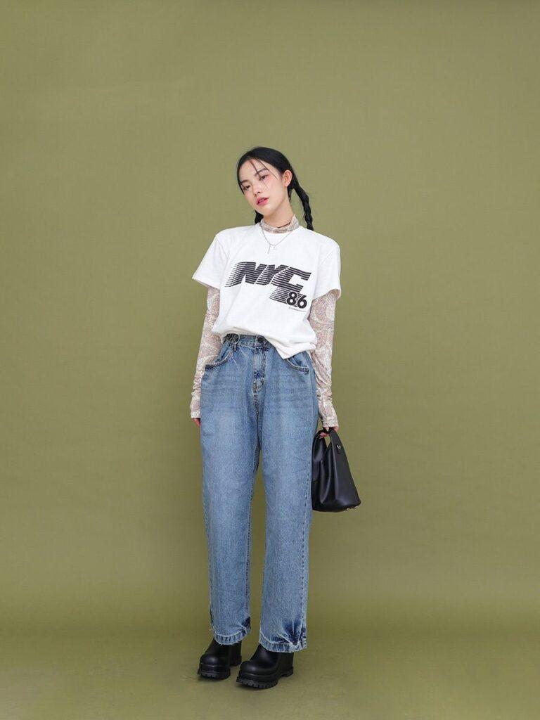 Áo thun và quần jeans_2