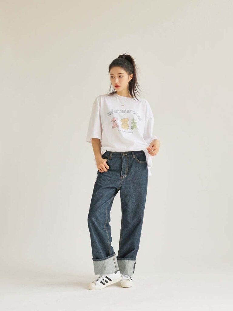 Áo thun và quần jeans_3