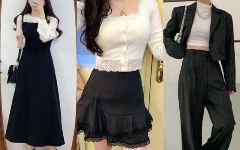 Mặc đẹp 25+ kiểu trang phục trắng đen
