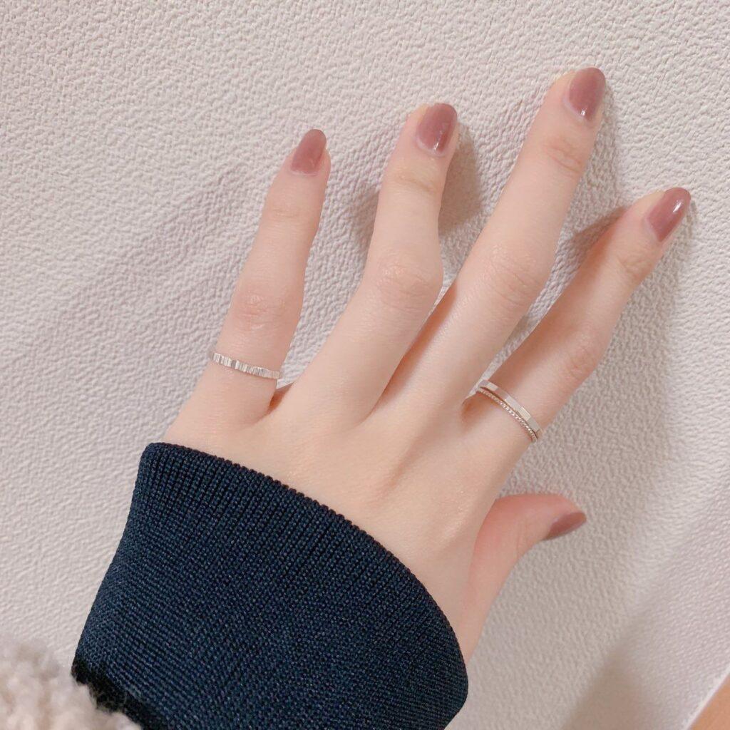 Nail một màu đơn giản_3