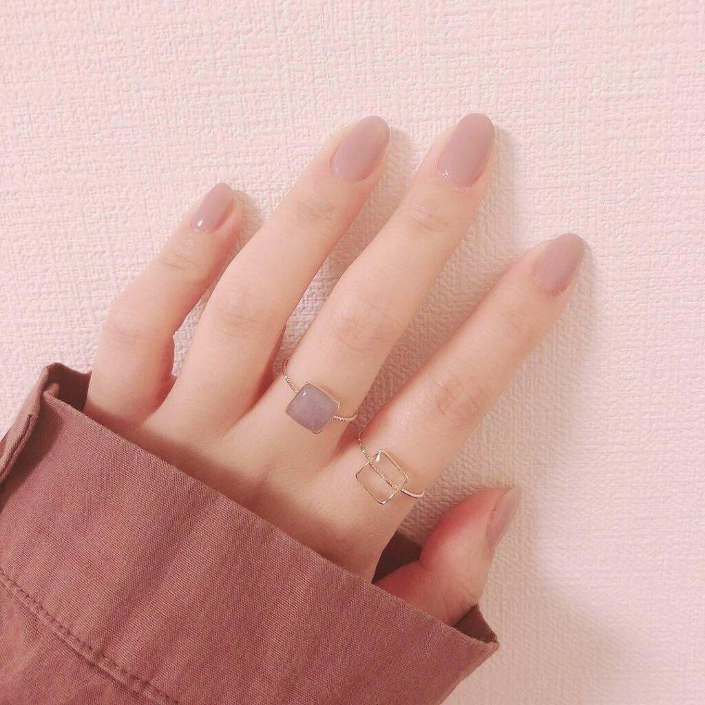 Nail một màu đơn giản_4