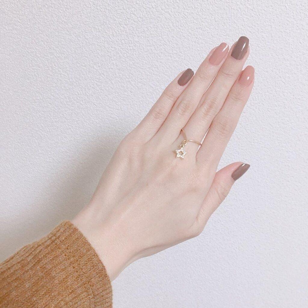 Nail một màu đơn giản_5