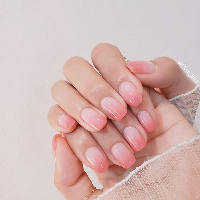 Nail tone hồng ngọt ngào 1