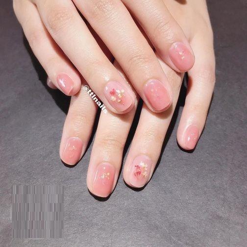 Nail tone hồng ngọt ngào_3