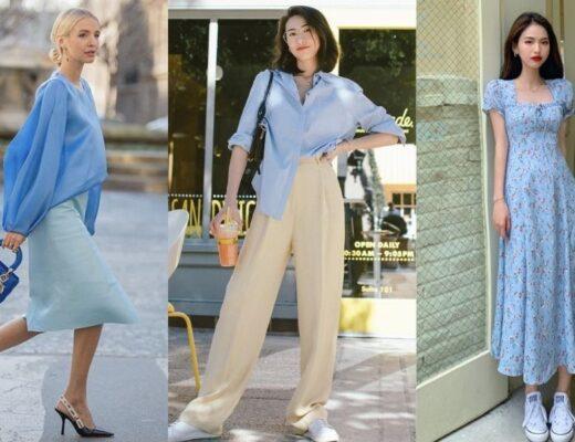 Siêu hot 23+ ý tưởng trang phục màu xanh biển