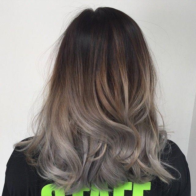 Tóc màu nâu lạnh ánh bạch kim 3