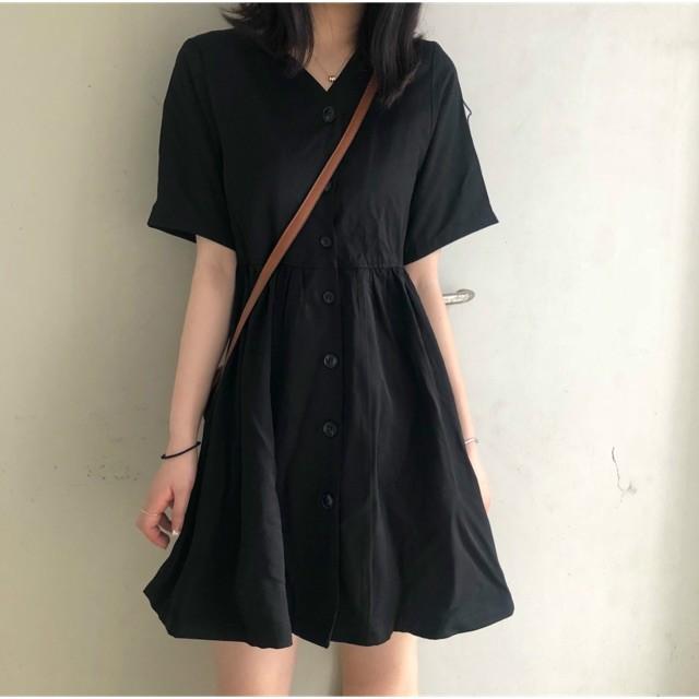 Váy ngắn cổ chữ V_5