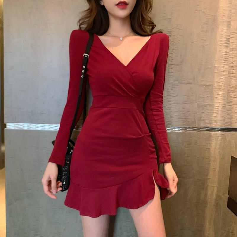 Váy ngắn cổ chữ V_9