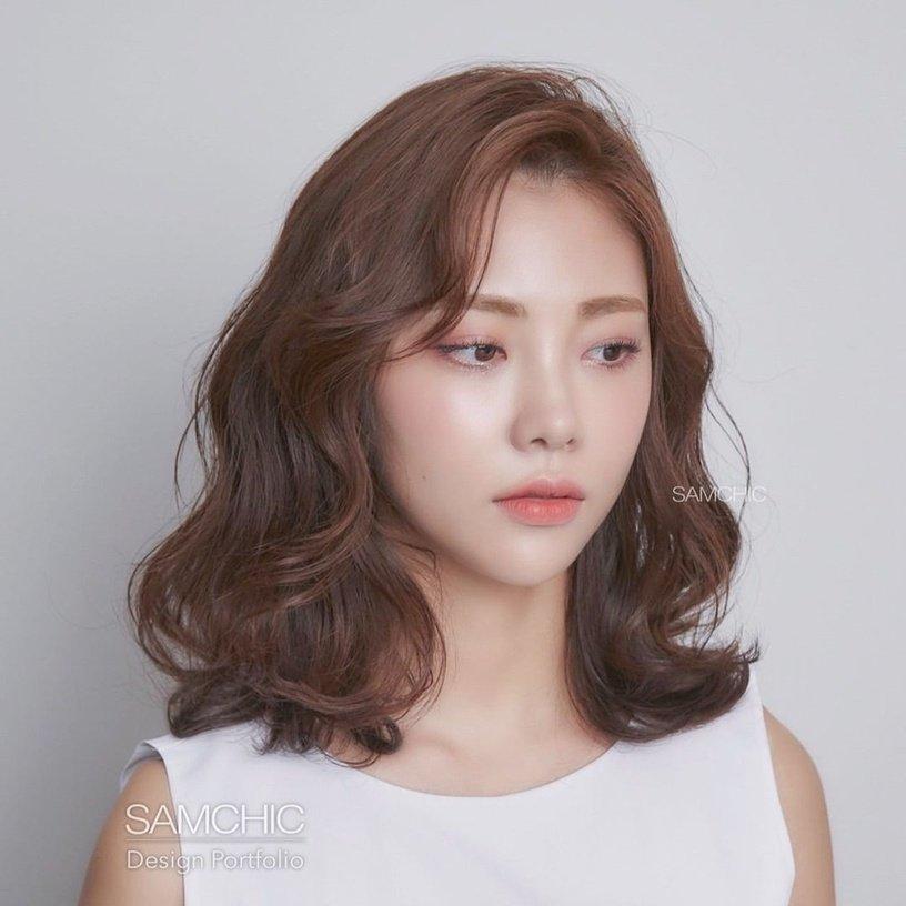 Tóc mái dài uốn nhẹ 15