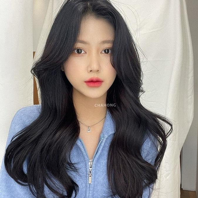 Tóc mái dài uốn nhẹ 16