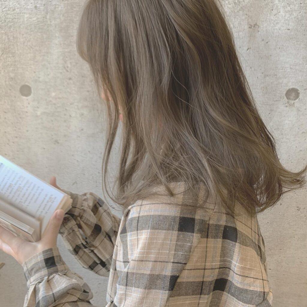 tóc màu nâu sữa 13